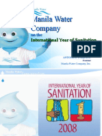 Manila Water on the International Year of Sanitation by Antonino Aquino