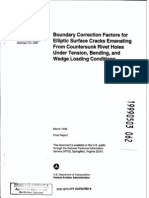 Boundry Correction Factors for Elliptical Cracks