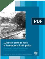 72 Respuestas a Preguntas Frecuentes Sobre Presupuestos Participativos Municipales