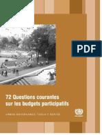 72 Questions Courantes Sur Les Budgets Participatifs