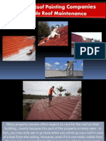 How to Roof Painting Companies Provide Roof Maintenance