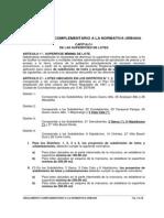 Om 4100 - Reglamento Complementario a La Normativa Urbana