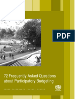 72 Frequently Asked Questions About Participatory Budgeting