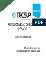 Sesiones 14 y 15 - Productividad de Equipo Pesado (1)