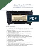 Lecteur DVD de Voiture Pour Mercedes-Benz CLK W209 Avec GPS Radio TV Et Bluetooth
