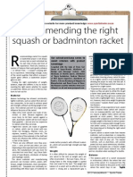 Product Knowledge Squash and Badminton Rackets