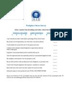 Workplace Stress Survey