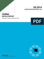 BMI China Metals Report Q2 2014