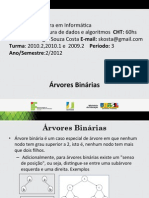 Arvores Binarias - Prof Sérgio 2012