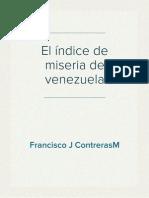 El índice de miseria de Venezuela