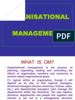 Organisational Management