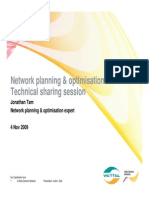 Network Planning & Optimisation 4 Nov 2009