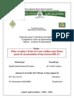 Mise en Place Dun Serveur Radius Sous Linux Pour La Securiasation Dun Reseau 802.11