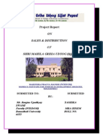 Sale & Distribution of Shri Mahila Griha Udyog
