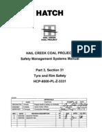 HCP-8000-PL-Z-3331 P3 S31 Tyre & Rim Safety Rev 0