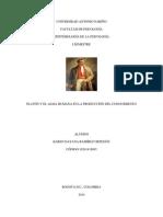 Epistemología - Ejercicio de Investigación Platón - Karen Ramírez Ortegón
