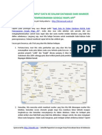 ALUR PROGRAM Input Data Ke Dalam Database MySQL Pada Pemrograman Google Maps API