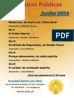 Palestras públicas junho 2014