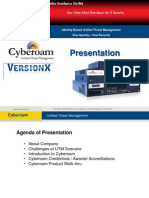 Cyberoam UTM With Version X Presentation Slide - Updated
