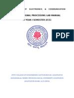 Digital Signal Processing Lab Mannual