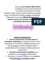 SexShop| Krissexshop | Directorio de Tienda erótica