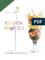 Gulfood Postshow Report 2013 Final