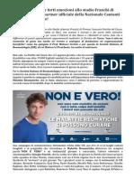 SIR Società Italiana Reumatologia Campagna Non è Vero partner Nazionale Cantanti