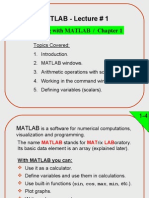 Matlab Lecture 1w03