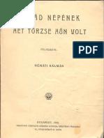 Németi Kálmán - Árpád Népének Hét Törzse Hun Volt