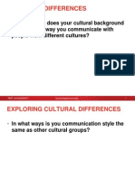 Cultural Differences Exercise