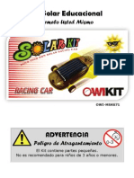 OWI MSK671, Auto de Carrera Solar - Kit Educacional, Manual