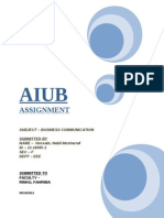 AIUB-Assignment Cover Sheet