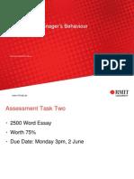 Analysing Managers Behaviour(2)