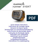 Forerunner310XT QuickReleaseInstructions Multilingual
