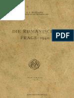 Die Rumanische Frage 1940 - Gh.I. Bratianu