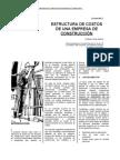 3-Estructuras de Costos de Una Empresa de Construcción