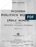 Actiunea Politicii Rusesti in Tarile Romane
