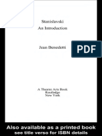 BENEDETTI, Jean - Stanislavski, An Introduction