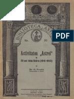 Activitatea Astrei in 25 de Ani de La Unire (1918-1943)