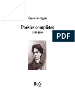 Poésie Complete Émile Nelligan
