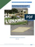 Estudio de Seleccion de Sitio_lunahuana