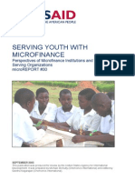 Microfinance for Youth in Conflict Settings