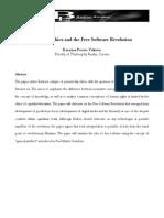 Badiou's Ethics and Free Software Revolution