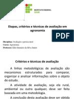 Avaliação e Perícia Rural - Aula 14-03-2014