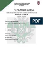 Ecuaciones Proyecto Mecanismos