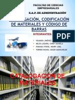 Catalogación, Codificación de Materiales y Código de Barras