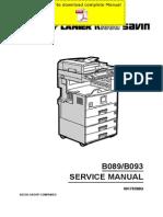 RICOH Aficio-2022 Aficio-2027 Service Manual Pages