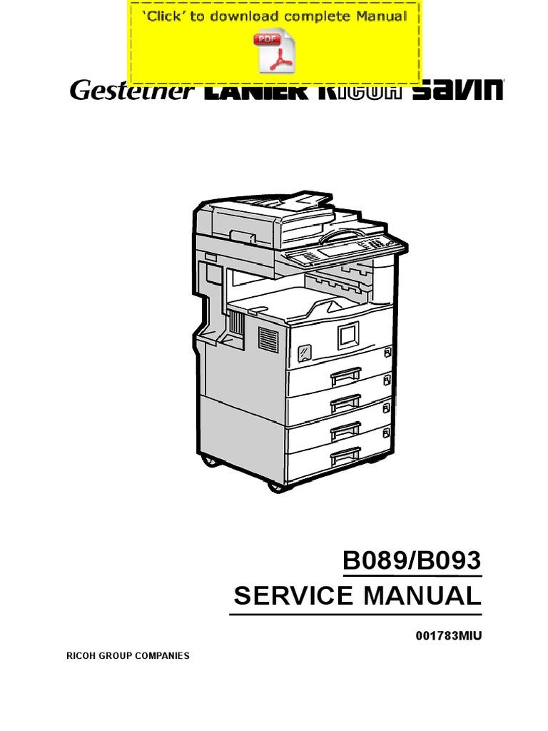 ricoh aficio 2022 aficio 2027 service manual pages rh es scribd com savin 4022 service manual Savin 4022 Driver