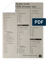 FCE Gold testbook Key