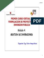 4 Diapositivas Del Modulo de Gestion de Inversiones